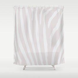 Tan & Off White Zebra Print Shower Curtain