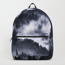 Misty Forest Mountains Backpack