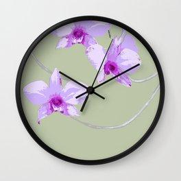 COOKTOWN ORCHID LIGHT GREEN Wall Clock