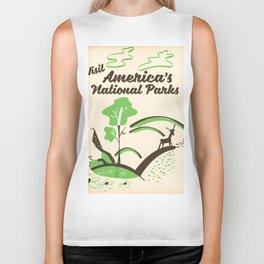 Visit America's National Parks vintage poster Biker Tank