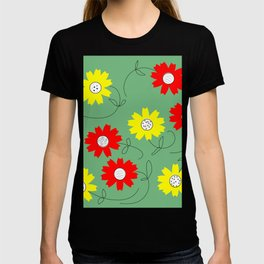 red and yellow coreopsis T-shirt