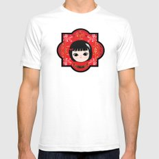 The Lunar New Year-Little girl White SMALL Mens Fitted Tee