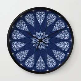 Navy and White Wall Clock