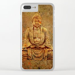 Sand Stone Sitting Buddha Clear iPhone Case