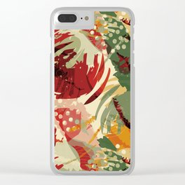 Abstract Holidays 2 Clear iPhone Case