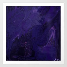 fluid nighmare Art Print