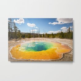 Yellowstone National Park Morning Glory Pool Wyoming Landscape Metal Print