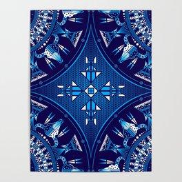 buffalo Gathering blue Poster