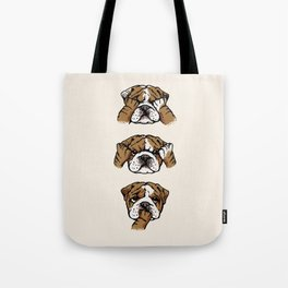 No Evil English Bulldog Tote Bag