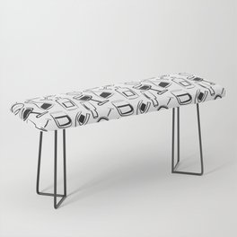 Wine Lovers Illustrated Wine Glasses and Wine Bottles Bench