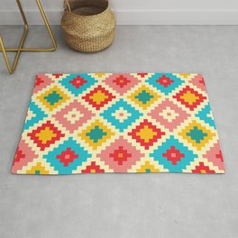 Candy Colored Tile Pattern Rug