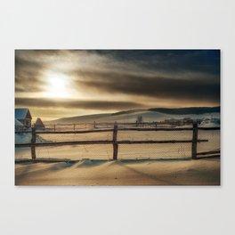 Visions of Sun Snow Canvas Print