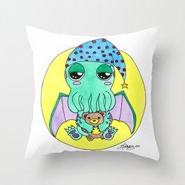 Night night Cute-thulu Throw Pillow