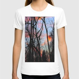 Sunset Through the Tangled Trees T-shirt