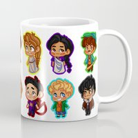 percy jackson Mugs featuring Chibis of Olympus by chubunu