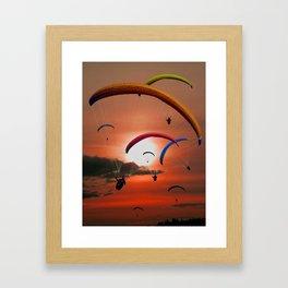 The paragliders Framed Art Print