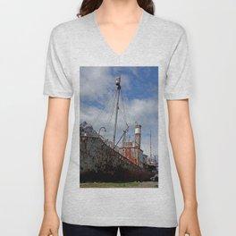 Whaling Ship Unisex V-Neck