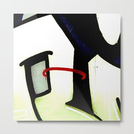 graffiti abstract black red, london Metal Print