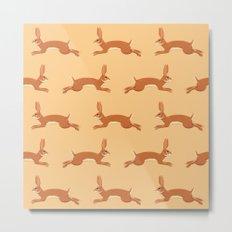 Rabbit Pattern Metal Print