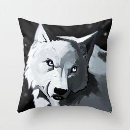 Wolf 4 Throw Pillow