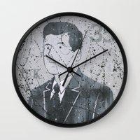 jfk Wall Clocks featuring JFK by Doren Chapman