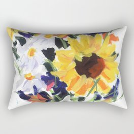 Sunflower Bouquet Rectangular Pillow