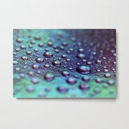 Opalescent Droplets Metal Print