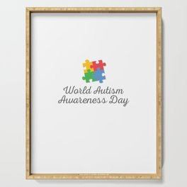 World Autism Awareness Day Serving Tray