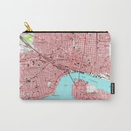 Vintage Map of Jacksonville Florida (1950) Carry-All Pouch