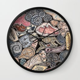 Fossils for history, dinosaur and archaeology lovers Wall Clock