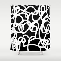 tangled Shower Curtains featuring TANGLED by SUNNASAVITA