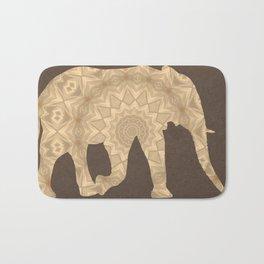 Bohemian Elephant Mandala A395 Bath Mat