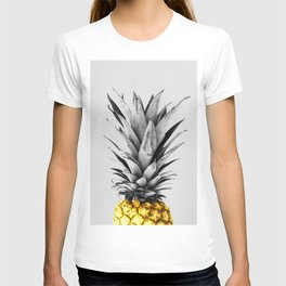 Gray and golden pineapple T-shirt