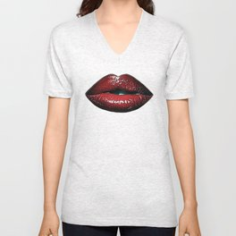 Luscious Red Lips SWAK A820 Unisex V-Neck