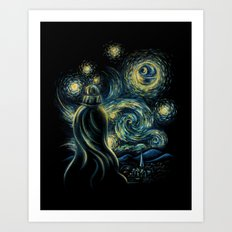 Death Starry Night Art Print