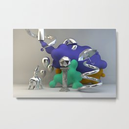 Poly Fume 01 Metal Print