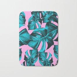 Monstera Leaves Summer Vibes Pattern #1 #tropical #decor #art #society6 Bath Mat