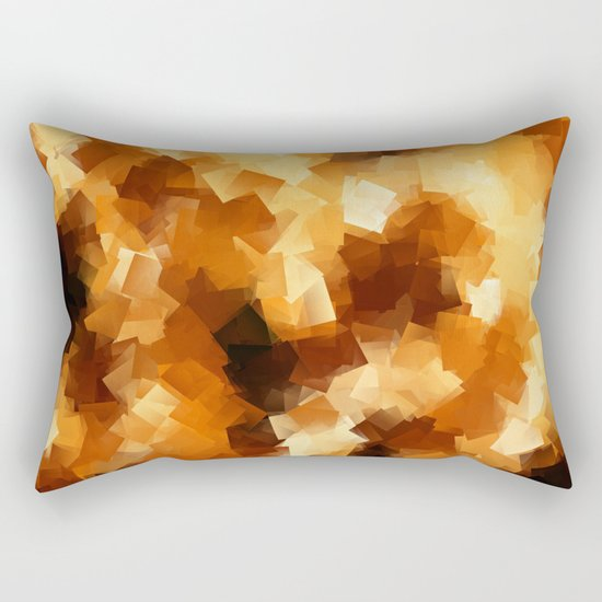 Cubist Fire Rectangular Pillow