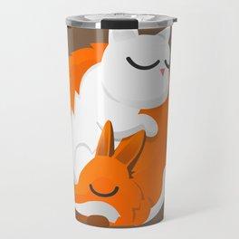Fox and cat Travel Mug