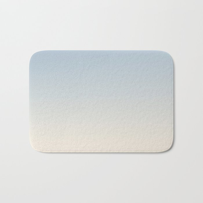 IVORY BONES - Minimal Plain Soft Mood Color Blend Prints Bath Mat