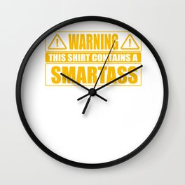 Rechthaber smartass alls Gifts Wall Clock