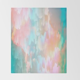Candy Rainbow Glitch Fall #abstractart Throw Blanket