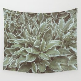 Green Leaves Plant, Hosta Wall Tapestry