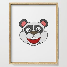 Funny Disguise Tshirt Design I'm really a panda Serving Tray