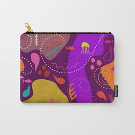 Mid Century Modern With Sea Life Carry-All Pouch