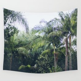Palm Trees in a Tropical Garden Wall Tapestry