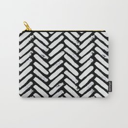 Painterly Herringbone Carry-All Pouch
