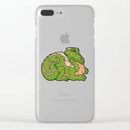 Smug Dragon Clear iPhone Case