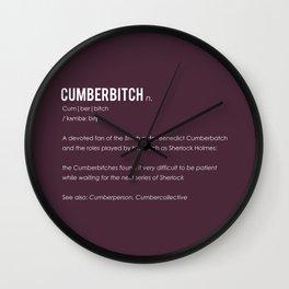 Cumberbitch Wall Clock