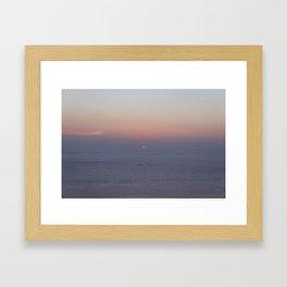 Sailing Through Sunset Framed Art Print